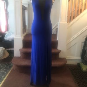 Blue dress with sheer cutouts M